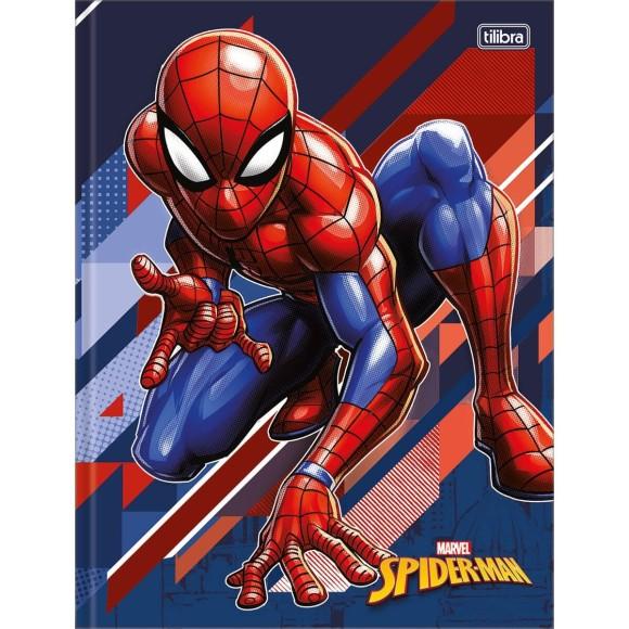 Caderno Brochurão Capa Dura Homem Aranha (Spider-Man) - 80 folhas - Tilibra