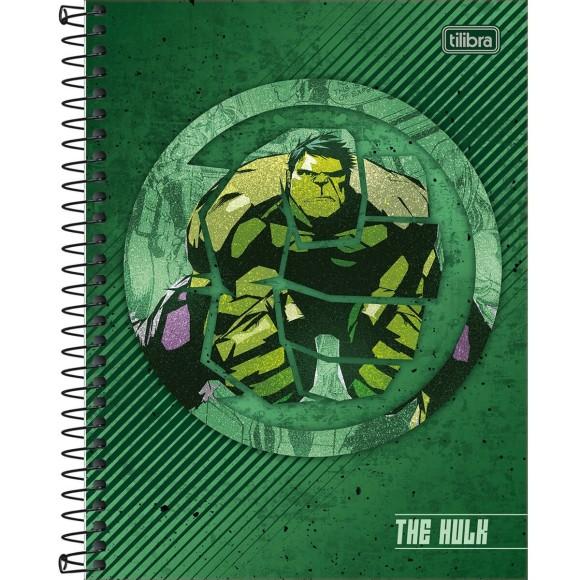 Caderno Colegial Espiral The Hulk - 1 Matéria - Tilibra