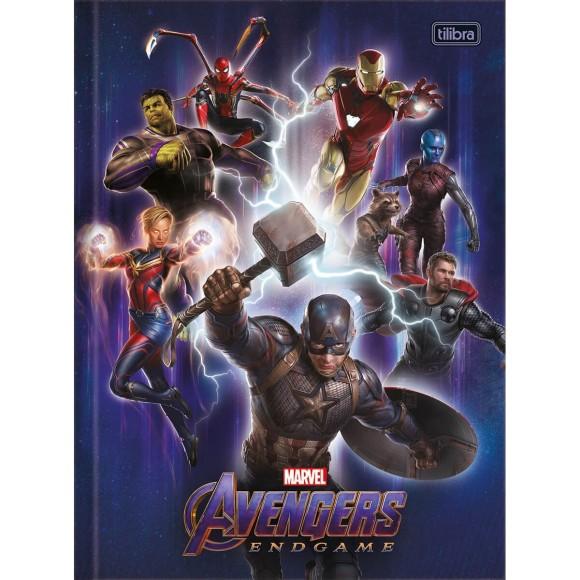 Caderno Brochurão Capa Dura Vingadores Ultimato (Avengers Endgame) - 80 folhas - Tilibra