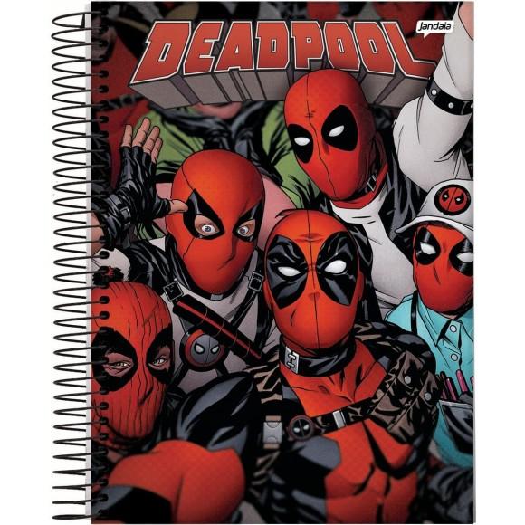 Caderno 1 Matéria Universitário Espiral Deadpool - Jandaia