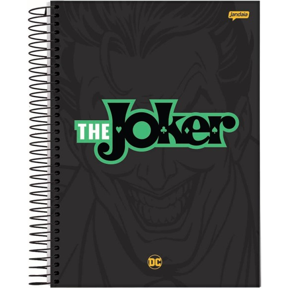 Caderno 1 Matéria Universitário Espiral The Joker (Coringa) - Jandaia