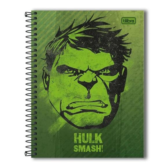 Caderno Colegial Espiral Hulk Smash - 10 Matérias - Tilibra