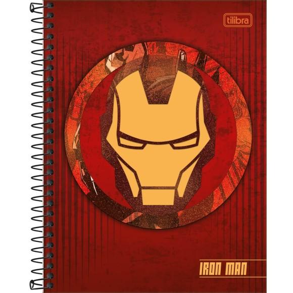 Caderno Colegial Espiral Iron Man (Homem de Ferro) - 10 Matérias - Tilibra