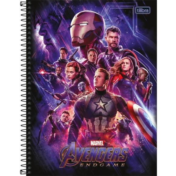 Caderno 1 Matéria Universitário Espiral Avengers Endgame (Vingadores Ultimato) - Tilibra