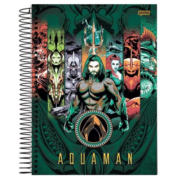 Caderno 1 Matéria Universitário Espiral Aquaman -  Jandaia
