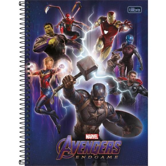 Caderno 10 Matérias Universitário Espiral Avengers Endgame (Vingadores Ultimato) - Tilibra