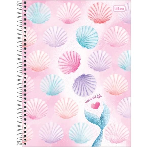 Caderno 1 Matéria Universitário Espiral Wonder Sereia - Mermaid Life - Tilibra