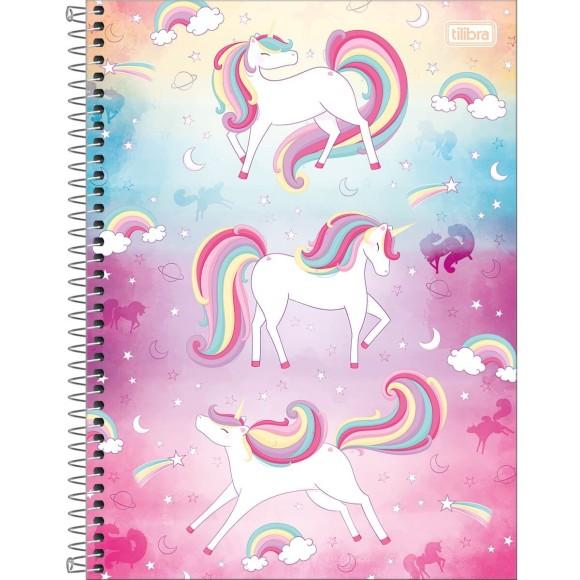 Caderno 10 Matérias Blink! Unicórnio - Tilibra