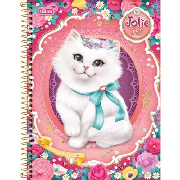 Caderno 10 Matérias Jolie Pet - Gatinha - Tilibra