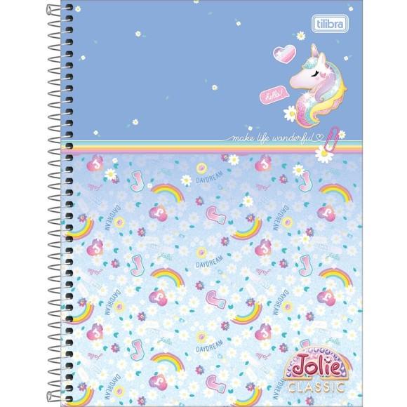 Caderno 10 Matérias Jolie Classic - Unicórnio - Tilibra
