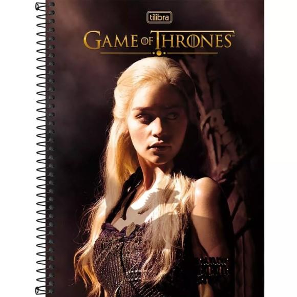 Caderno 1 Matéria Game Of Thrones - Daenerys Targaryen - Tilibra
