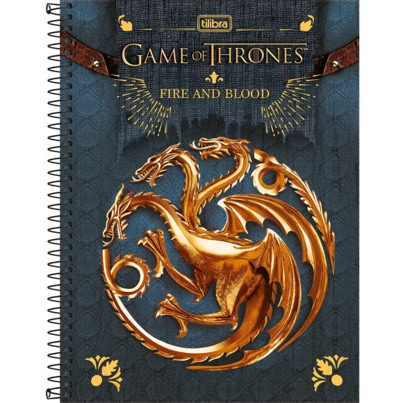 Caderno 10 Matérias Universitário Espiral Game Of Thrones - Tilibra