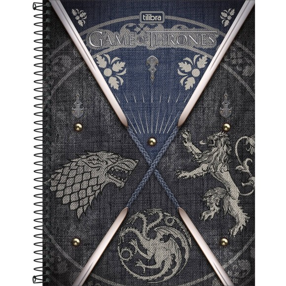 Caderno 10 Matérias Game Of Thrones - Tilibra
