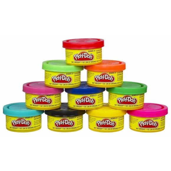 Massinhas Play-Doh - Kit com 10 Mini Potes - Hasbro
