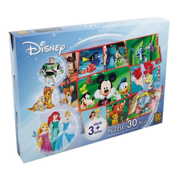Quebra-cabeça 30 peças - Disney - Grow