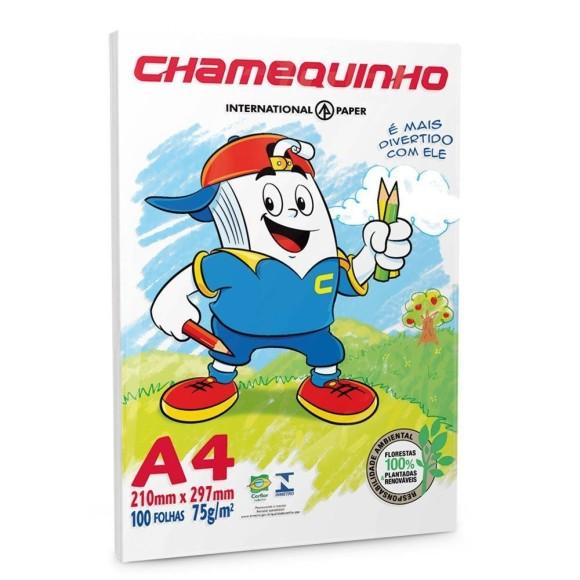 Papel Sulfite A4 - 100 Folhas - Chamequinho
