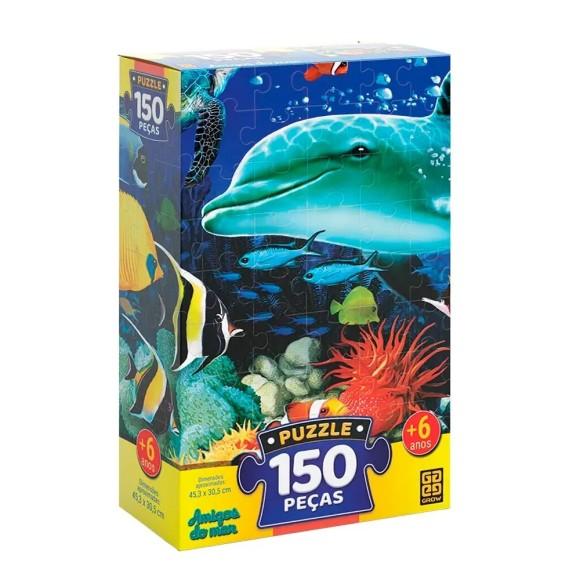 Quebra-cabeça 150 peças - Amigos do Mar - Grow