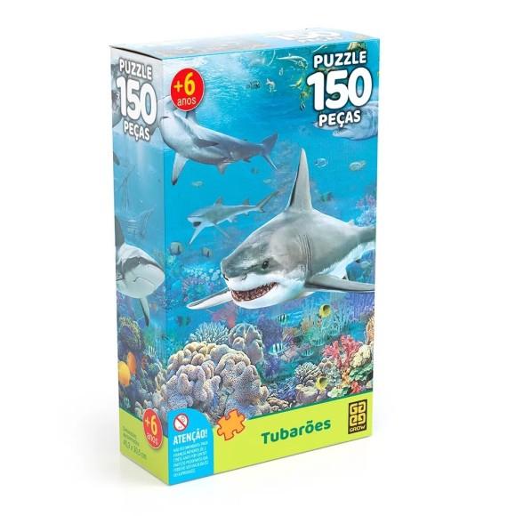 Quebra-cabeça 150 peças - Tubarões - Grow
