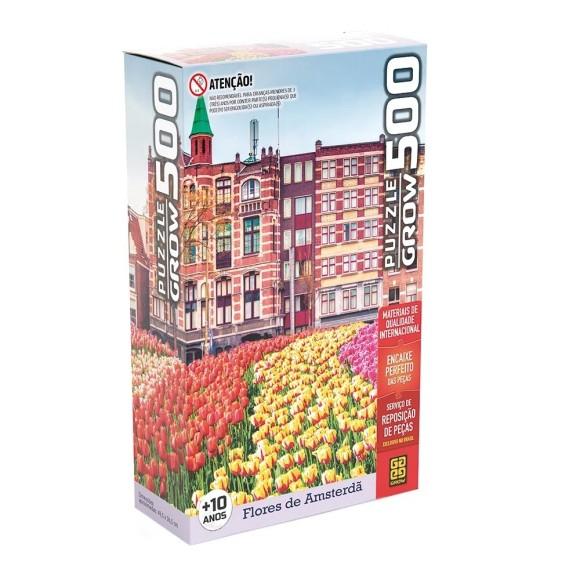 Quebra-cabeça 500 peças Flores em Amsterdã - Grow