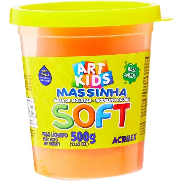 Massinha Laranja 500g Soft Art Kids - Acrilex