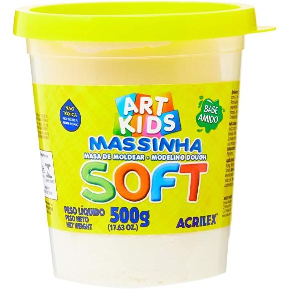 Massinha Branca 500g Soft Art Kids - Acrilex