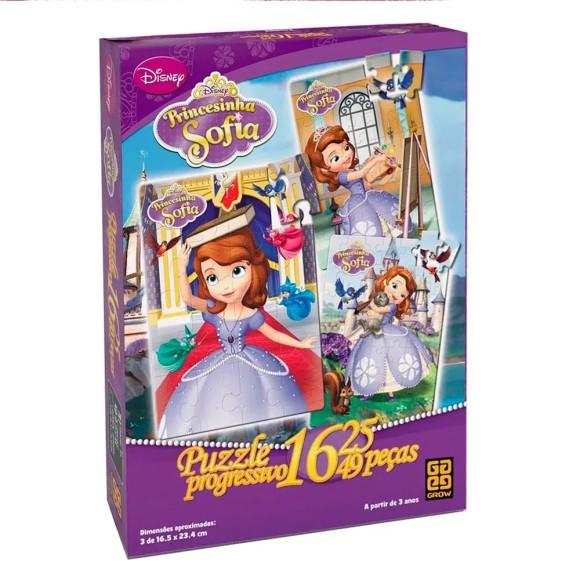 Quebra-cabeça Progressivo Princesinha Sofia - Grow