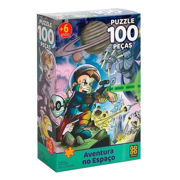 Quebra-cabeça 100 peças Aventura no Espaço - Grow