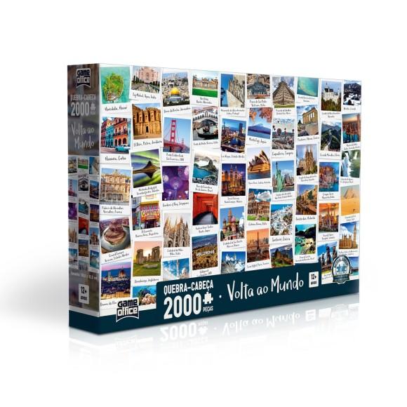 Quebra-cabeça 2000 peças Volta ao Mundo - Game Office