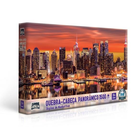 Quebra-cabeça 1500 peças Panorâmico Skyline de Manhattan - Game Office