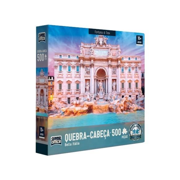 Quebra-cabeça 500 Peças Bella Itália - Fontana di Trevi - Game Office