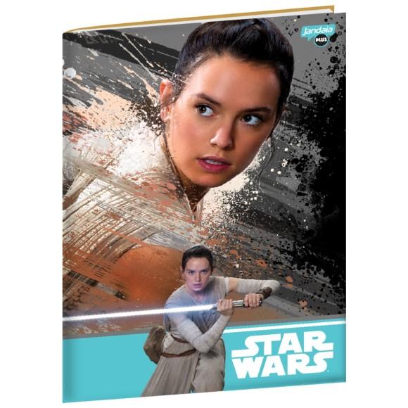 Caderno Brochurão Capa Dura Ray Star Wars - 96 folhas - Jandaia
