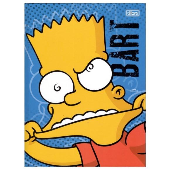 Caderno Brochurão Capa Dura Os Simpsons - 96 folhas - Tilibra