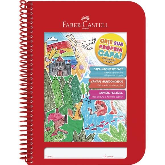 Caderno Criativo Universitário Vermelho - 96 folhas - Faber-Castell