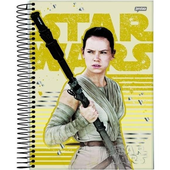 Caderno 10 Matérias Universitário Espiral Star Wars - Rey - Jandaia