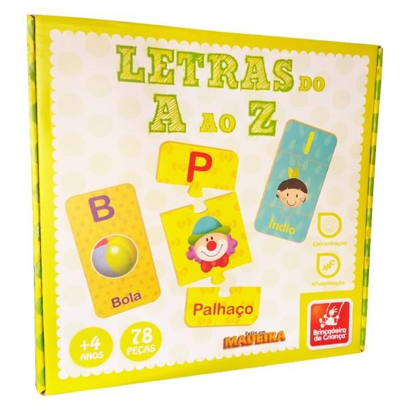 Letras do A ao Z - 78 Peças - Brincadeira de Criança