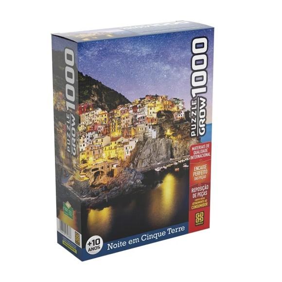 Quebra-cabeça 1000 peças Noite em Cinque Terre - Grow
