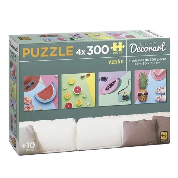 Quebra-cabeça 4 x 300 peças Decorart Verão - Grow