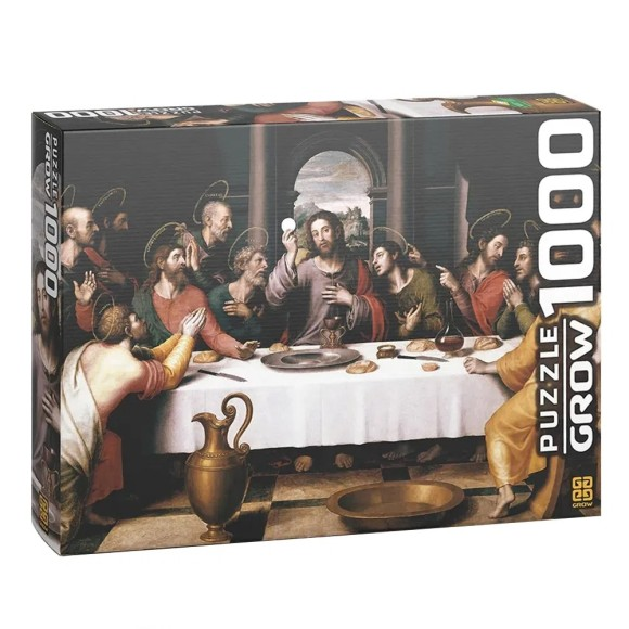 Quebra-cabeça 1000 peças Santa Ceia - Grow