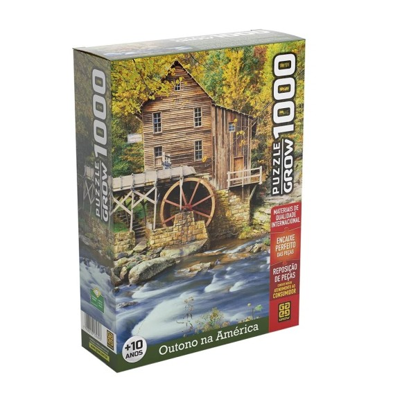 Quebra-cabeça 1000 peças Outono na América - Grow
