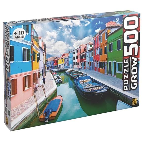 Quebra-cabeça 500 peças Canal de Burano - Grow