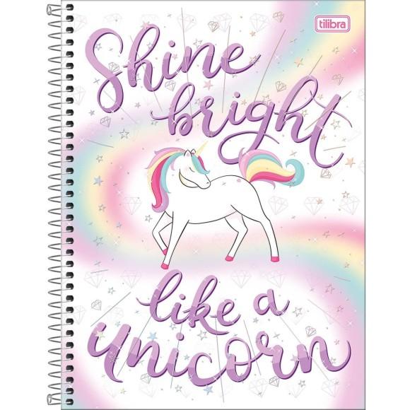 Caderno Universitário Espiral Blink! Shine bright like a unicorn - 10 Matérias - Tilibra