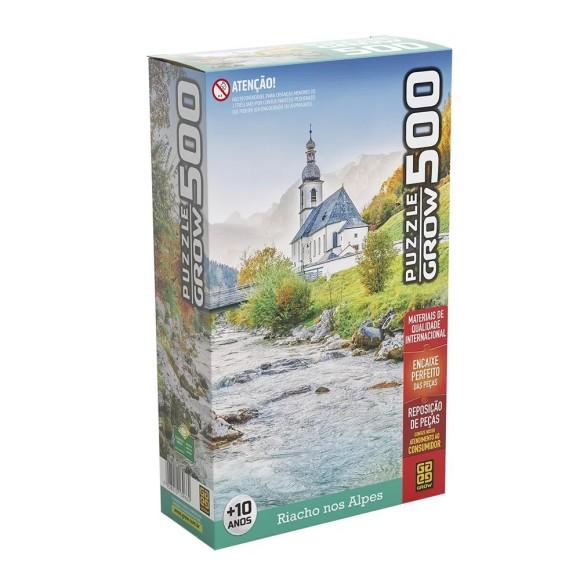 Quebra-cabeça 500 peças Riacho nos Alpes - Grow