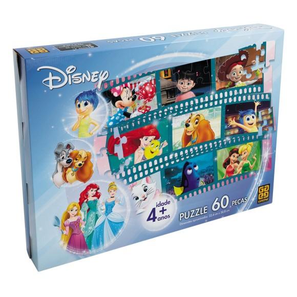Quebra-cabeça 60 peças - Disney - Grow