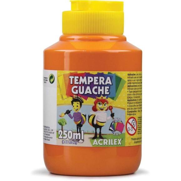 Tinta Guache 250ml Laranja (517) - Acrilex