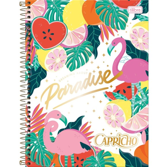 Caderno 1 Matéria Universitário Espiral Capricho - Paradise - Tilibra
