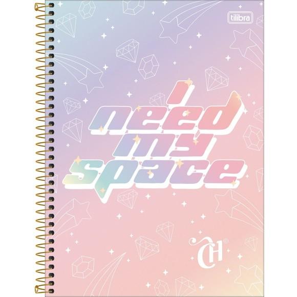 Caderno 1 Matéria Universitário Espiral Capricho - I Need My Space - Tilibra