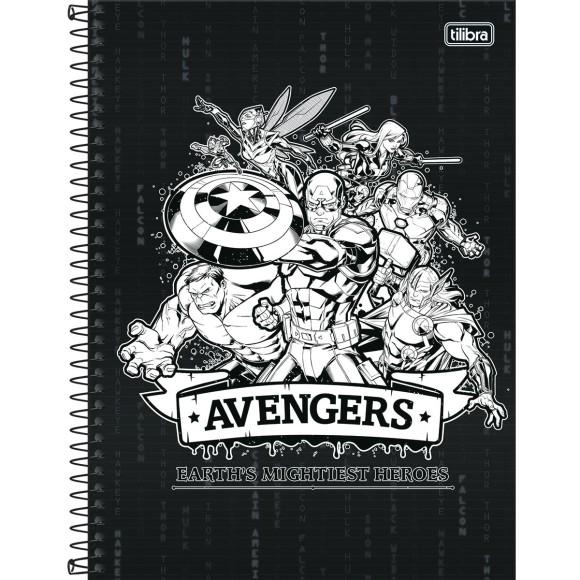 Caderno 10 Matérias Universitário Espiral Avengers - Tilibra