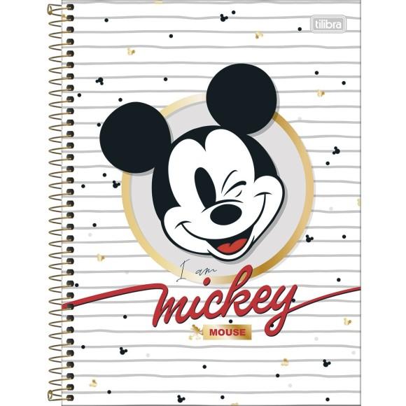 Caderno 10 Matérias Universitário Espiral Mickey - Tilibra