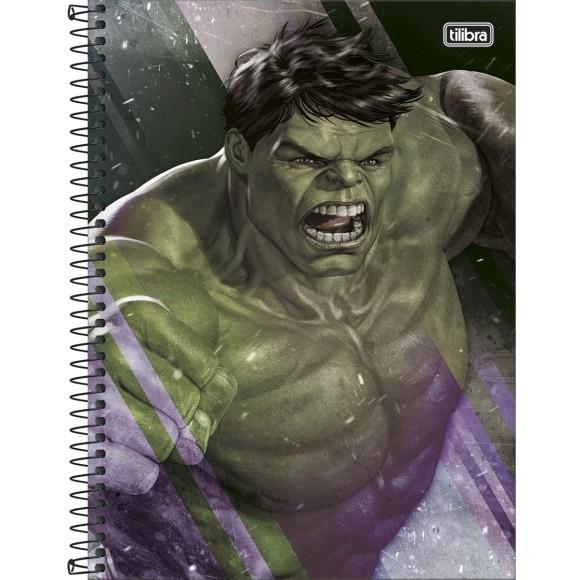 Caderno 10 Matérias Universitário Espiral Avengers - Hulk - Tilibra