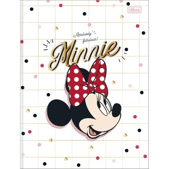 Caderno Brochurão Capa Dura Minnie - 80 folhas - Tilibra